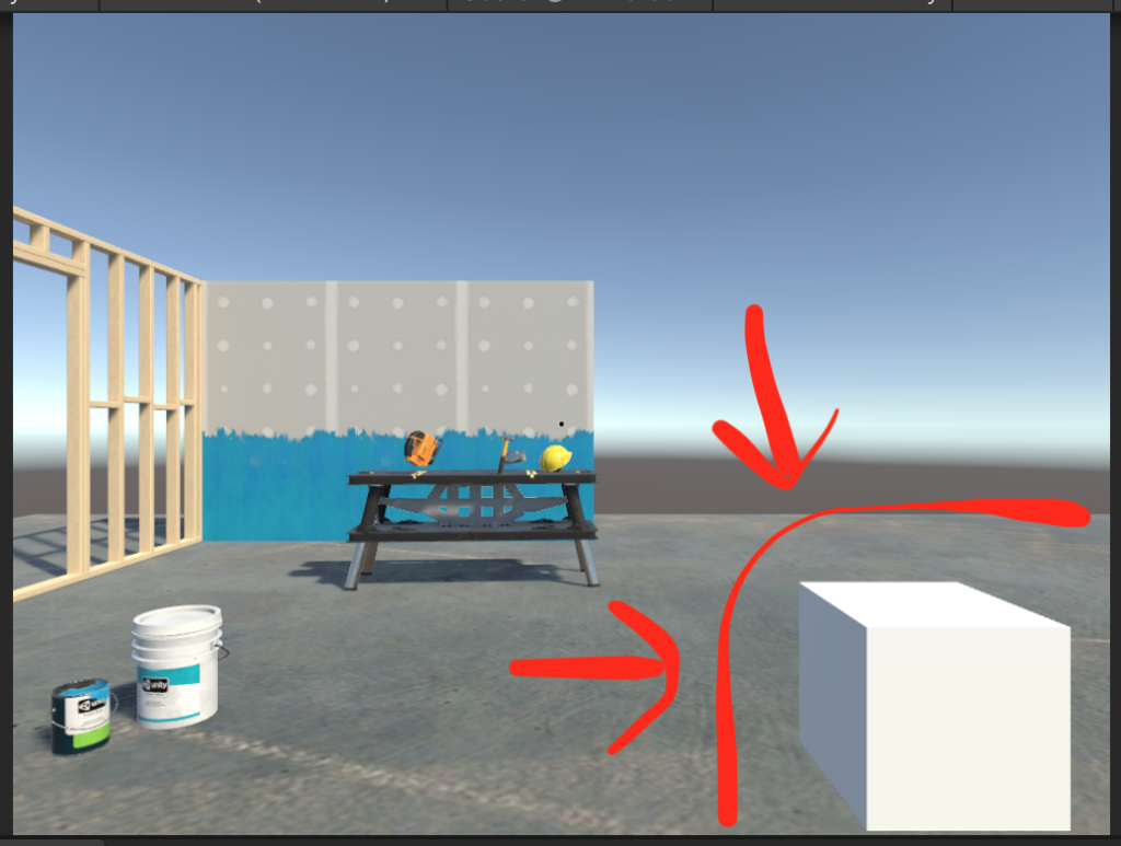 Use cube for positioning in the game view